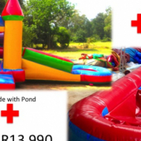Jumping Castle - Summer Special R13990, 3m x 6m + 10m Slip 'n Slide with blowers and carybags