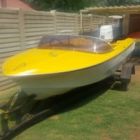 Impala boat with trailer and Evinrude 60 hp motor