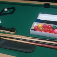 Standard Size Pool Table with accessories