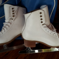 Jacksons White Leather Figure Skates