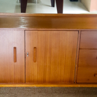 Mid-century Frystark sideboard, solid wood and veneer, sturdy condition, pretty but not perfect
