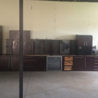 Complete Mahogany Kitchen incl appliances