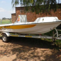 Boat and trailer at reduced price