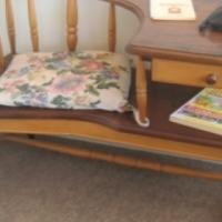 Yellowwood + Stinkwood telephone chair/table