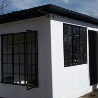 Container with door and windows / office 6m