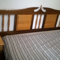 Bedroom suite, solid wood, hand made