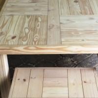 Patio table Farmhouse series 2500 Combo 2 Raw