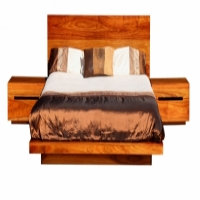 Solid Kiaat Floating Bed