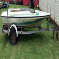 Project Boat (Hull on trailer)
