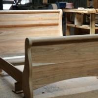 Solid Kiaat Sleigh Bed Manufacturers