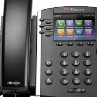 "Polycom VVX 410 12-Line IP Phone Gigabit PoE, Skype3.5"" Color Graphical Display"