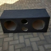 """Double sub box for 2 x 12"""" subs and 2 x ports."""