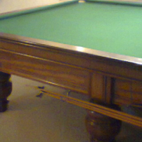 Full size Union Biliiards Champion Snooker Table with lights,scoreboard, log, Fshort rests and cue