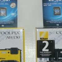 Nikon Coolpix AW130 (Brand New R4500) 30M Waterproof,F2.8 Lens, 16MP,1080 HD Video