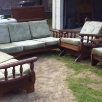 Imbuia 4pce 7 Seater lounge suite (Month End Special)