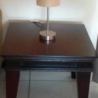 Wood lounge side table