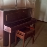 Gors & Kallmann piano with stool for sale.