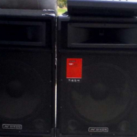 Like Brand New 2 Dixon 15 inch Speakers, 6 Channel Powered Mixer with USB Port for sale...