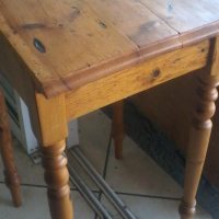 Wooden Square Tall Table