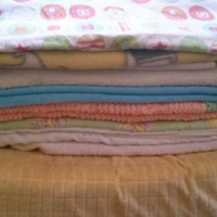 BABY GIRL BLANKETS AND CHANGING MAT