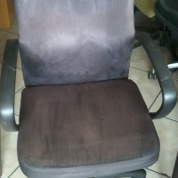 Purple Suede Office Swivel Chairs