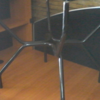 Glass Square Table with Metal Legs