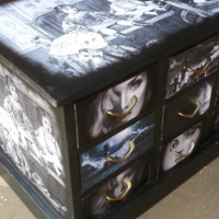 Black and White Multi Drawer Chest (930x495x600)