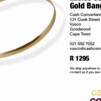 Ladies 9ct Yellow Gold Bangle (4mm), used for sale  South Africa