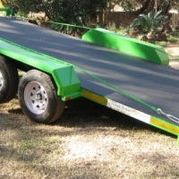 A.JH.  SOLID FLOOR CAR TRAILER.