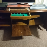Antique Imbuia Wood buffet or sideboard