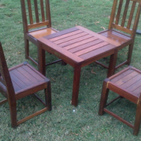 Antique Small table and 4 chairs