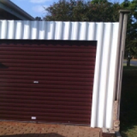 Garage Door with carport and motor
