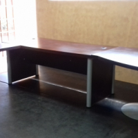 Desk with small conference table