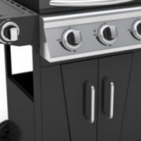 Zooltro 3+1 Burner Gas BBQ Braai Grill w/ Side Burner and Pulse Ignition