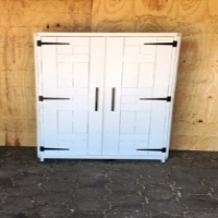 Kitchen Cupboard Farmhouse series Free standing 1800 with 2 doors - version 2 - White washed