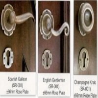 Wrought iron rose handles