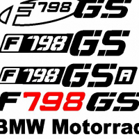 BMW F798 GS decals stickers graphics kits