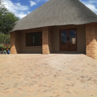 Brand.new free standing thatch cottage