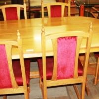 8 Piece Oak Diningroom Set S022050A #Rosettenvillepawnshop