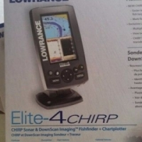 Lowrance Mark-4 CHIRP GPS Fishfinder & Chartplotter with transducer