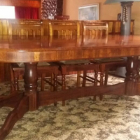Imbuia dining table 8 seat with sideboard