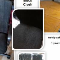 """Black Crush"" fabric Office Swivel Chairs"