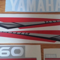 Yamaha two stroke 60 HP outboard motor cowl decals stickers graphics kits for sale  Central
