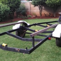 6M trailer with inboard boat shell