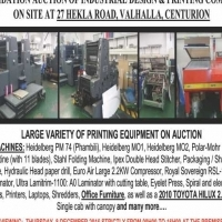 Large variety of printing equipment on auction