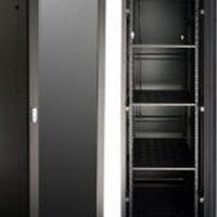 47 U network cabinet / server rack, NEW, 1000mm deep, black with glass door 4 fans, shelves and 1o/1