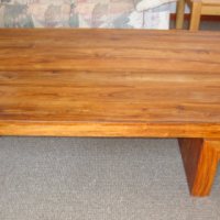 Solid wood rectangular coffee table ex Coricraft