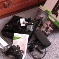 """Used, In box, Like New, Xbox 360 Limited """"E"""" Edition 500GB Black Super Slimline with 2 Games Included... for sale  East Rand"""