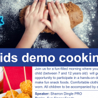 Kids Cooking Demo at Hirschs Fourways
