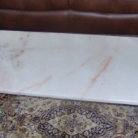 Classic Coffee table with brass legs and Beautiful solid marble top